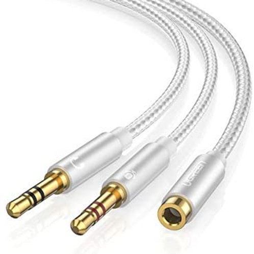 Ugreen Female to 2 Male Headphone Mic Audio Y Splitter Cable