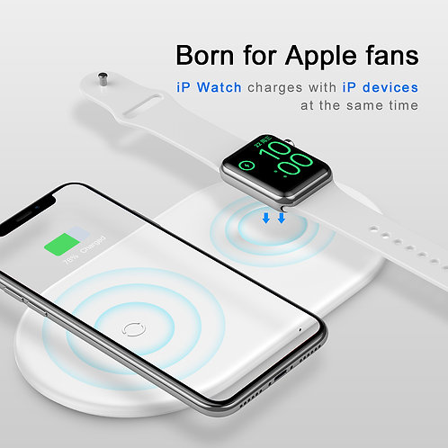 Baseus Baseus Wireless Charger 2iN1 Fo Type-C Version White