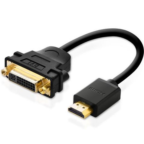 Ugreen HDMI Male to DVI Female Adapter Cable, 22cm, Black