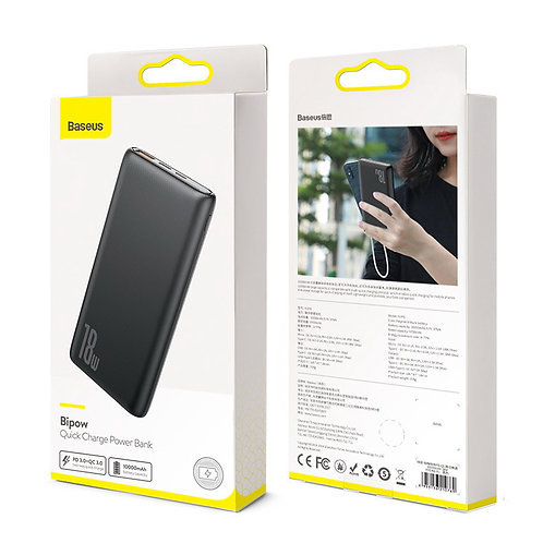 Baseus Quick Charge Power Bank PD+QC 10000mAh 18W Black