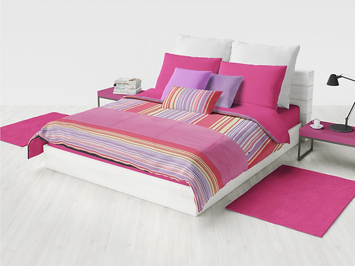 Cobertor Microcuero Rayas Invertidas