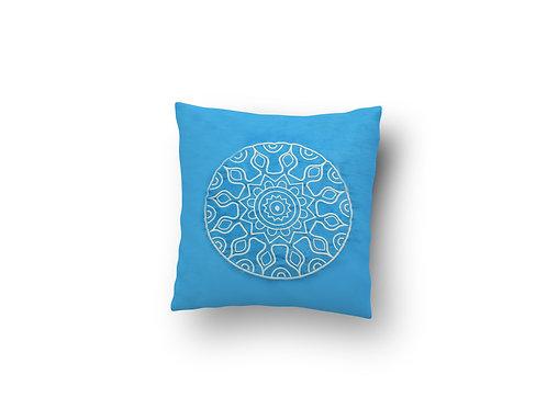 Cojín Mandala Azul