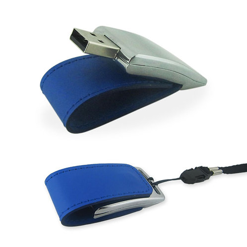 Memoria USB en Cuero 4 GB