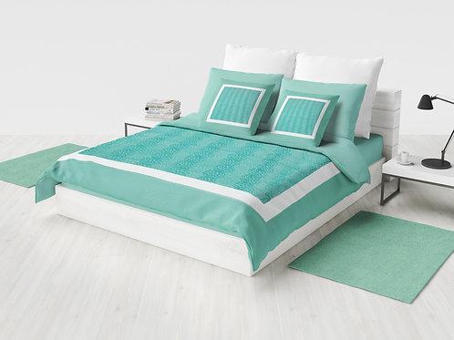 Cobertor Microcuero Agua Marina