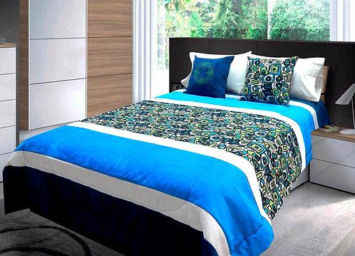 Cobertor Microcuero Blue