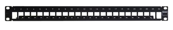 <STPEMPTYUPP24> PATCH PANEL MODULAR 24 METALICO - LINXCOM