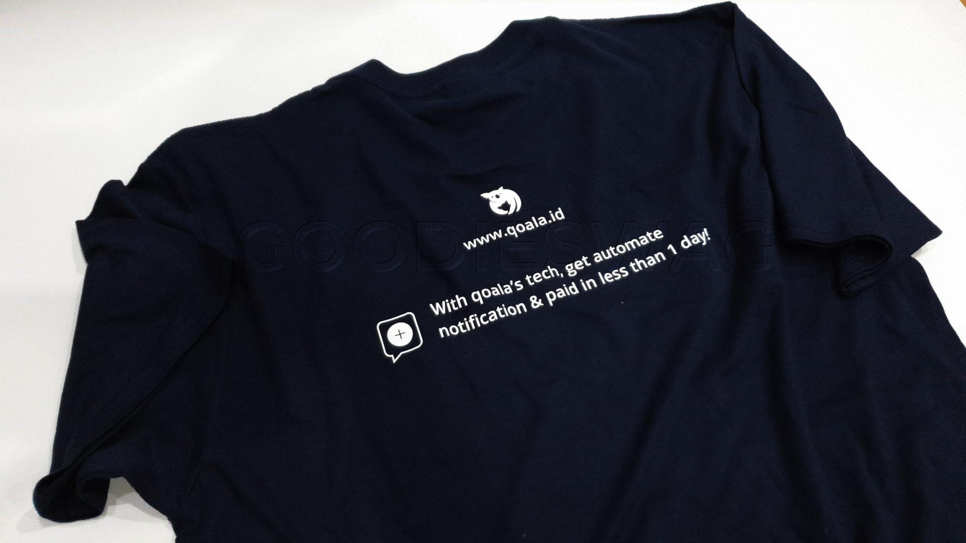 Custom Heatpress Tshirt Qoala Souvenir Promosi Jakarta Indonesia