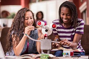 girls-achieve-in-stem-steam-robot-ai-art