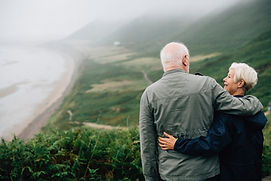 affection-elderly-senior-couple-outdoors