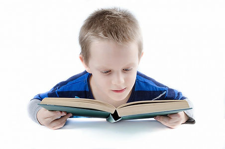 Boy reading a book with fascination, engaging storytime, learning to read, reading to learn