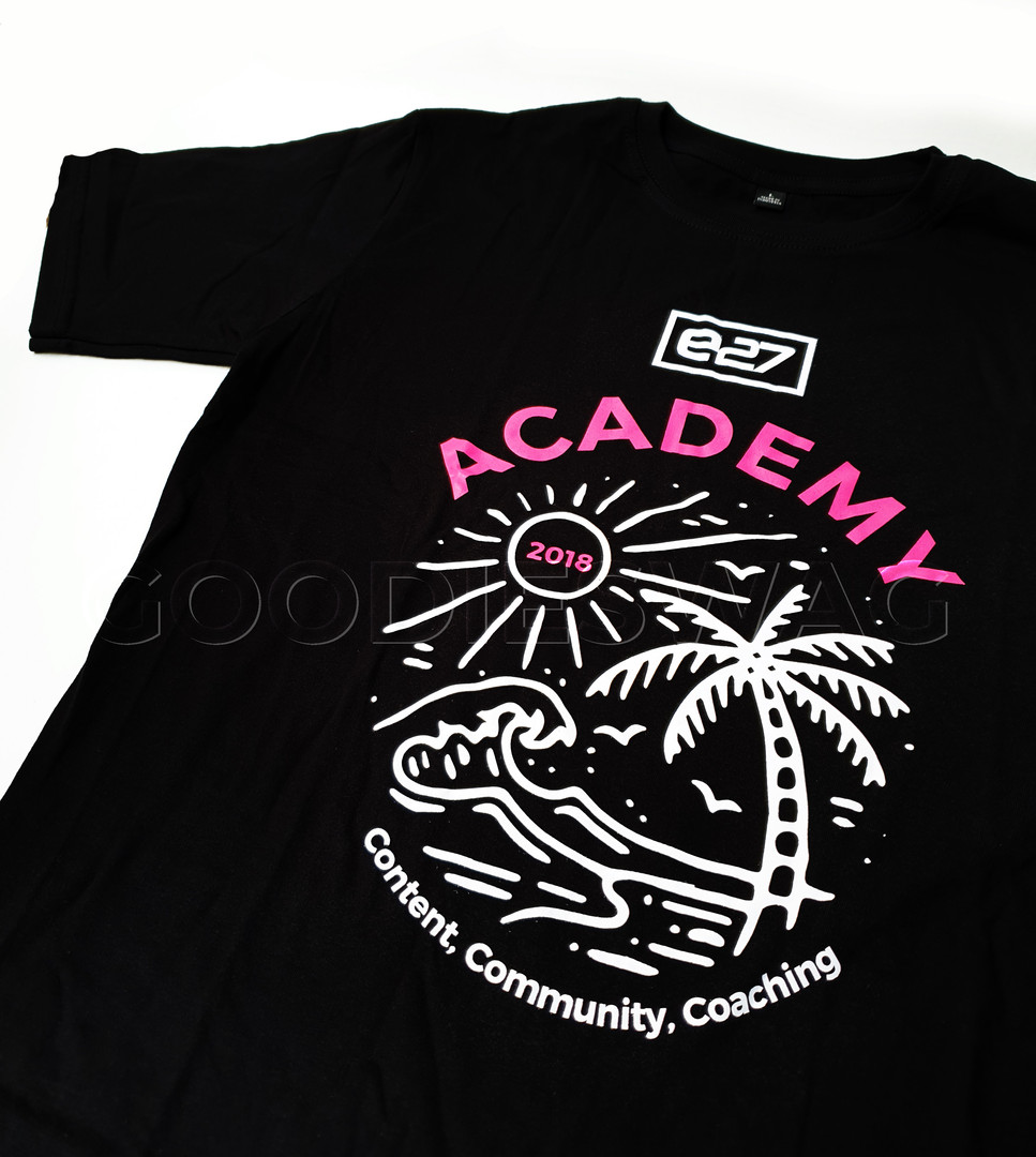 e27 Acedemy Custom Tshirt Merchandise Indonesia Batam