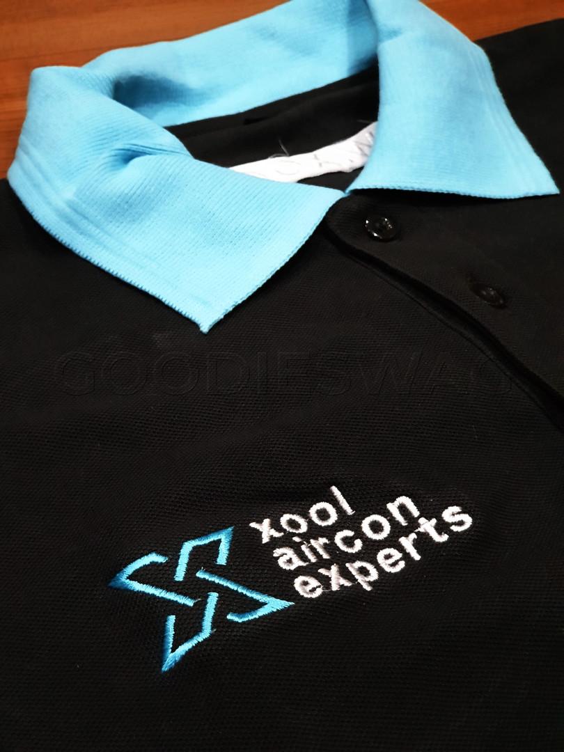 Custom Poloshirt Xool Singapore Embroidery