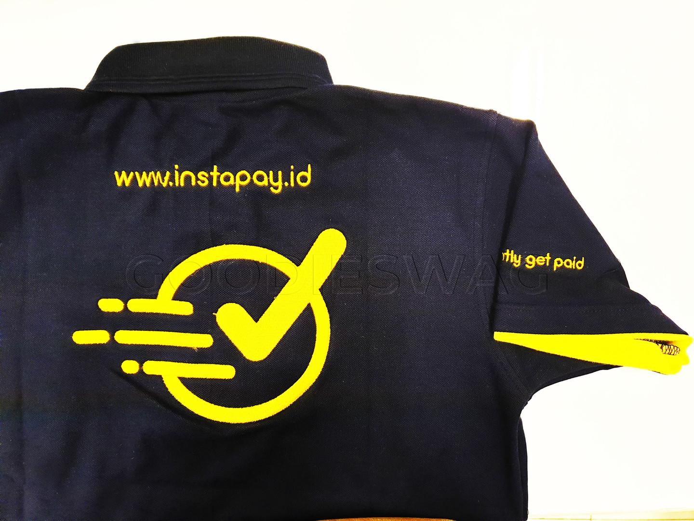 Custom Poloshirt Instapay Jakarta Indonesia Embroidery