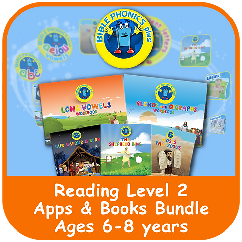 Bible Phonics Plus Level 2 App & Book Bundle