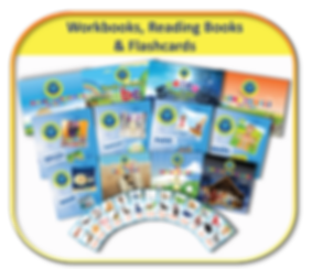 Bible Phonics Plus Books and Flashcards