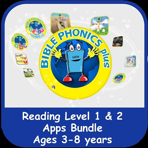 Bible Phonics Plus Level 1 & 2 Apps Bundle