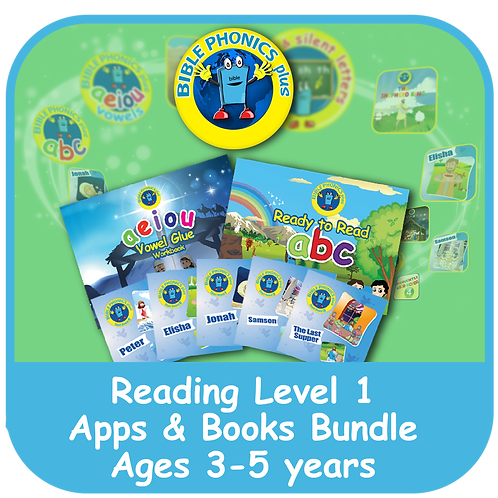 Bible Phonics Plus Level 1 Apps and Books Bundle