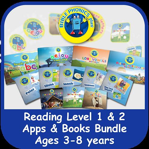 Bible Phonics Plus Level 1 & 2 Apps & Books Bundle