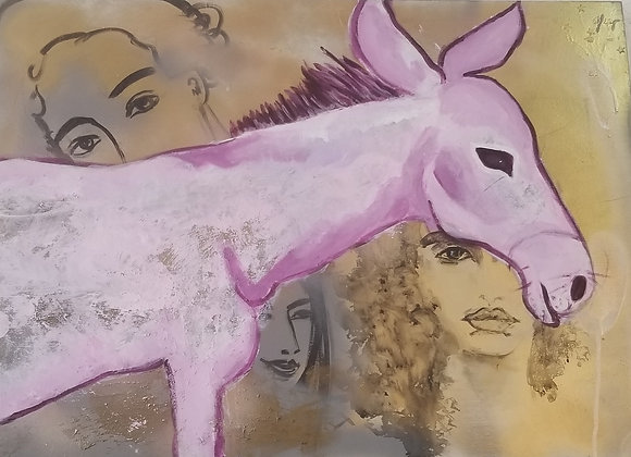 The purple Donkey