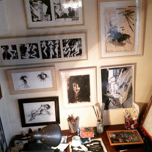 The place where it all begins, is dreamed of and created. Michelle Litter Gavrielov's studio