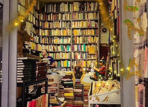 Pinoccio in book shop