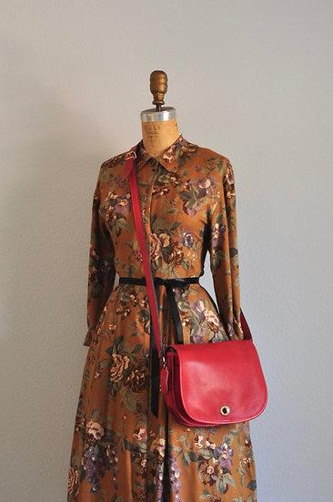Vintage Red Coach Crossbody Handbag