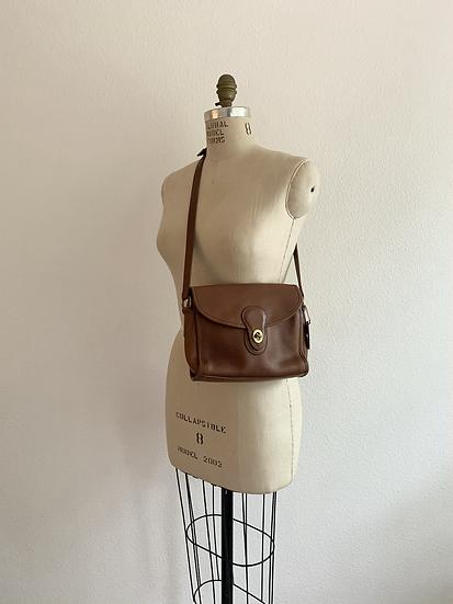 Cognac Leather Coach Bag