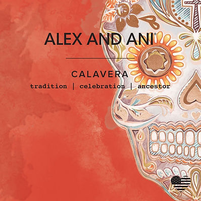 Calavera card designed by Emily Lopuch for Alex and Ani.