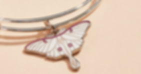 Luna Moth jewelry designed by Emily Lopuch for Alex and Ani.