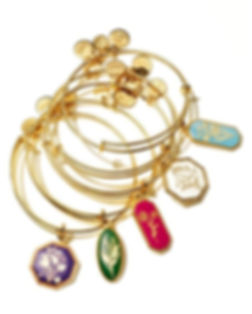 Birth Month Flowers jewelry designed by Emily Lopuch for Alex and Ani.