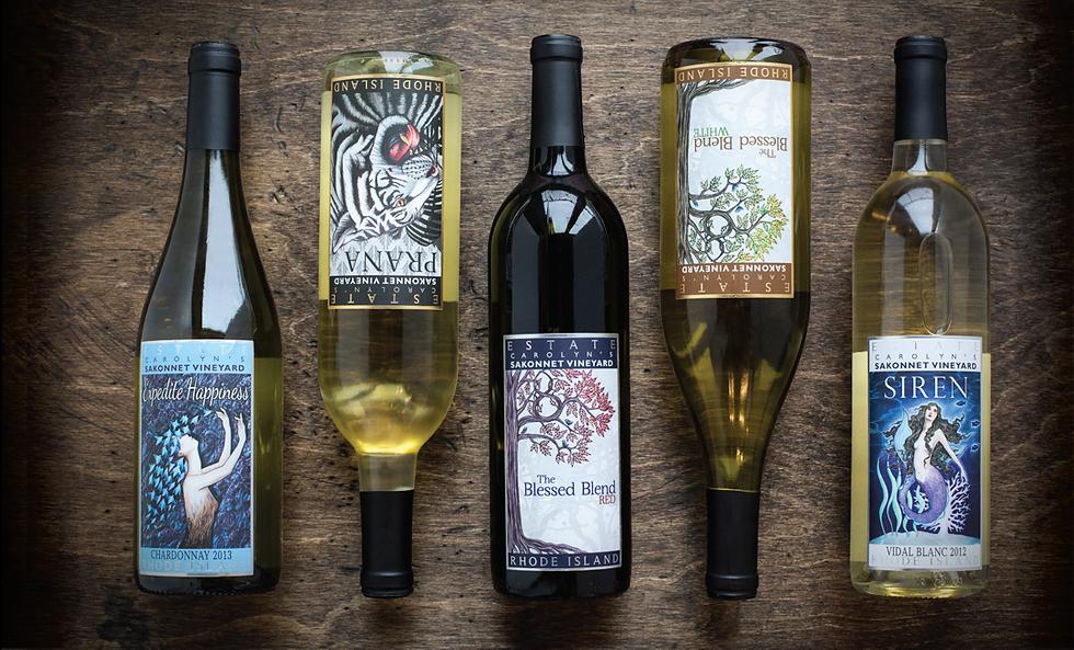 Wine Labels designed by Emily Lopuch for Sakonnet Vineyards.