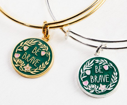 Be Brave jewelry designed by Emily Lopuch for Alex and Ani and the Special Olympics.