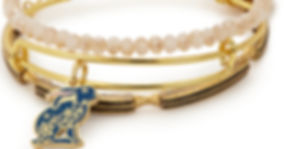 Floral Rabbit jewelry designed by Emily Lopuch for Alex and Ani.