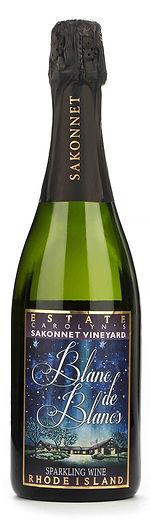 Blanc de Blancs Wine Label designed by Emily Lopuch for Sakonnet Vineyards.