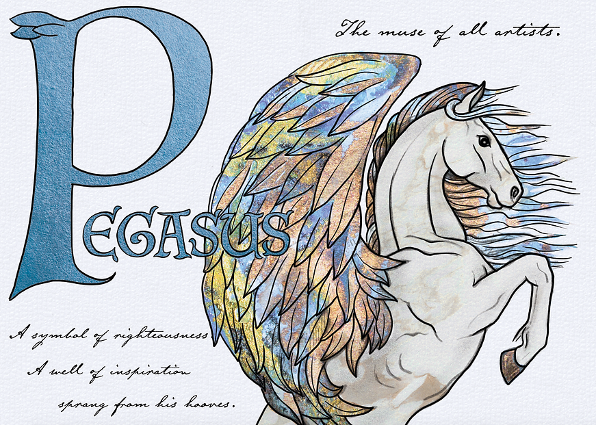 Pegasus Illustration by Emily Lopuch for Alex and Ani.