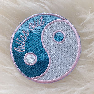 Bliss Out Yin Yang patch designed by Emily Lopuch for Wildflower and Company