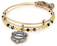 Hufflepuff Bangle designed by Emily Lopuch for Alex and Ani and Warner Bros.