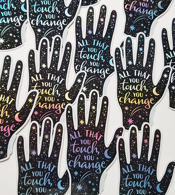 Star Hand Holographic Sticker designed by Emily Lopuch