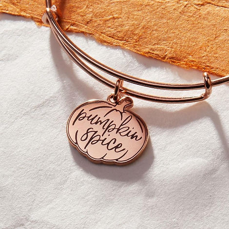 Pumpkin Spice jewelry designed by Emily Lopuch for Alex and Ani.