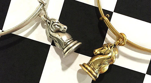 Knight jewelry designed by Emily Lopuch for Alex and Ani and Year Up.