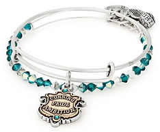 Slytherin Bangle designed by Emily Lopuch for Alex and Ani and Warner Bros.