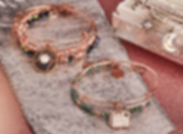 Joy and Every Day is a Gift jewelry designed by Emily Lopuch for Alex and Ani.