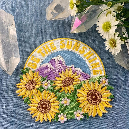 Be The Sunshine Sunflower patch designed by Emily Lopuch for Wildflower and Company.