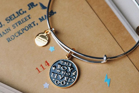 The Boy Who Lived designed by Emily Lopuch for Alex and Ani and Warner Bros.