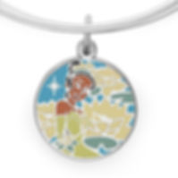 Tiana Princess Charm designed by Emily Lopuch for Alex and Ani and Disney.