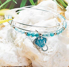 Stingray jewelry designed by Emily Lopuch for Alex and Ani.