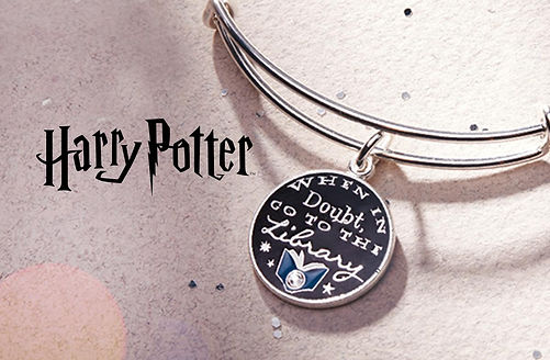 When in Doubt Go to the Library designed by Emily Lopuch for Alex and Ani and Warner Bros.