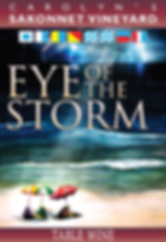 Eye of the Storm Wine Label designed by Emily Lopuch for Sakonnet Vineyards.