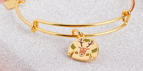 Ugly Sweater Reindeer jewelry designed by Emily Lopuch for Alex and Ani.