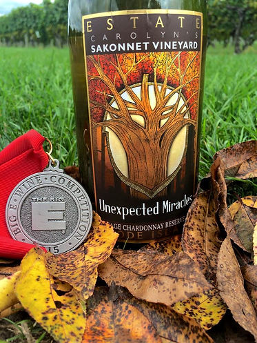 Unexpected Miracles Wine Label designed by Emily Lopuch for Sakonnet Vineyards.